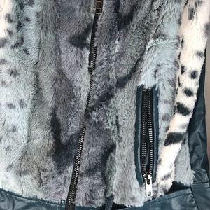 Hem & Thread Jackets & Coats - Hem & Thread Faux Leather Bike jacket